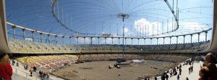 Stade en construction Photos libres de droits