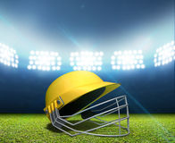 Stade et casque de cricket Images stock