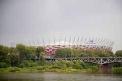 Stade footbal national à Varsovie en Pologne, l'Europe photographie stock