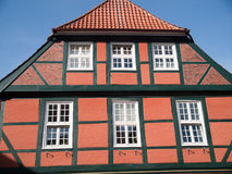 Stade,Germany. Impressive facade of building in Stade ,Germany Royalty Free Stock Photography