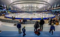 Stade Heerenveen de glace de Thialf Images libres de droits