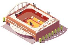 Stade isométrique de basket-ball de vecteur bas poly Photographie stock