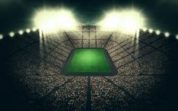 Stade la nuit Photo libre de droits