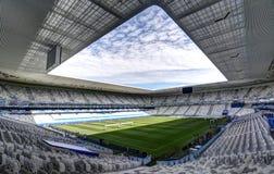 Stade Mamut Atlantique, Bordeaux. Stadium Mamut Atlantique in Bordeaux. Field of play without players and public Stock Photo