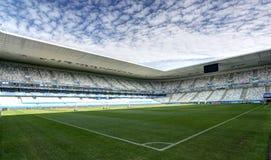 Stade Mamut Atlantique, Bordeaux. Stadium Mamut Atlantique in Bordeaux. Field of play without players and public Royalty Free Stock Images