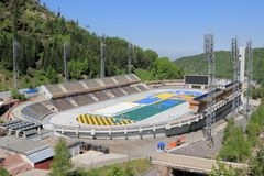Stade Medeo Photos libres de droits