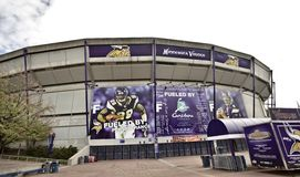 Stade Minneapolis de Vikings image libre de droits