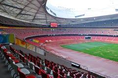 Stade national de Pékin (l'emboîtement de l'oiseau) Photographie stock