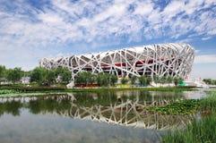 Stade olympique national de la Chine Images libres de droits
