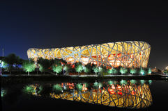 Stade olympique national de la Chine image stock