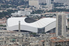 Stade Vélodrome i den Marseille staden i Frankrike Royaltyfria Bilder