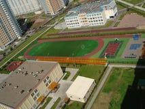Stade vide, une première vue Photographie stock libre de droits