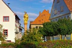 Staden Aub i Tyskland, madonnan royaltyfria bilder