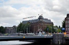 Staden av Amsterdam Royaltyfria Foton