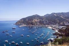 Staden av Avalon på Santa Catalina Island Arkivbilder
