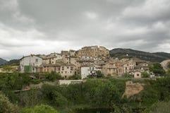 Staden av Beceite Arkivfoto