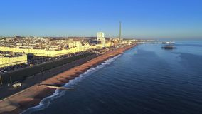 Staden av Brighton England från över arkivfilmer