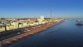 Staden av Brighton England från över stock video