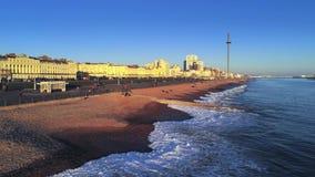 Staden av Brighton England från över lager videofilmer