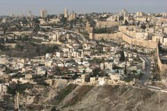 Staden av David, Jerusalem, Israel royaltyfria foton