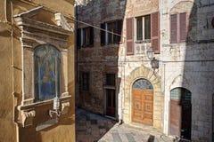 Staden av den Colle Val d'Elsaen Arkivbild