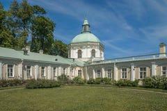 Staden av den Lomonosov Menshikov slotten Arkivfoton