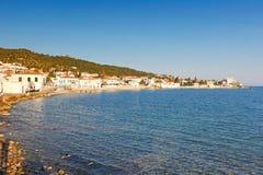 Staden av den Spetses ön, Grekland Arkivbild