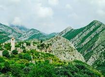 Staden av den Stari stången, Montenegro Fotografering för Bildbyråer