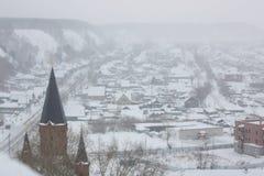 Staden av den Tobolsk Tyumen regionen Arkivbild