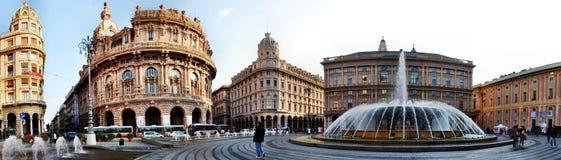 Staden av Genua, panorama royaltyfria foton