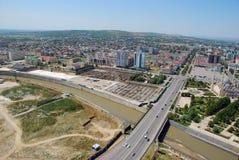 Staden av Grozny övre sikt Arkivfoto