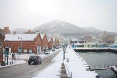 Staden av Hakodate i skymningen, panorama Royaltyfria Foton