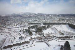 Staden av Hakodate, panorama Royaltyfria Foton