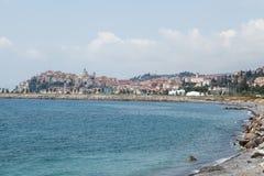 Staden av Imperia royaltyfria foton