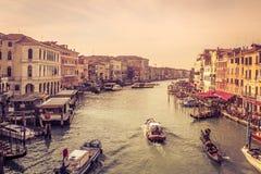 Staden av kanalen Royaltyfria Foton