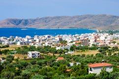 Staden av Karystos Grekland Royaltyfri Fotografi