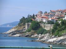 Staden av Kavala Arkivbilder