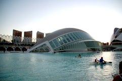 Staden av konst och vetenskaper i Valencia Spain royaltyfria bilder