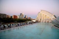Staden av konst och vetenskaper i Valencia Spain royaltyfri bild