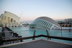 Staden av konst och vetenskaper i Valencia Spain arkivbilder