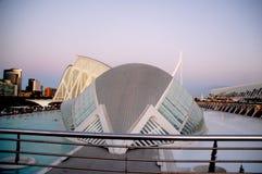 Staden av konst och vetenskaper i Valencia Spain fotografering för bildbyråer
