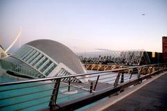 Staden av konst och vetenskaper i Valencia Spain royaltyfri fotografi