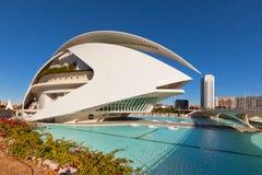 Staden av konster, oceanografiskt och vetenskaper, Valencia arkivfoto