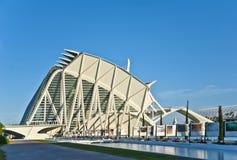 Staden av konster och vetenskap i Valencia. Arkivbild