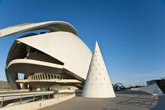 Staden av konster och vetenskap i Valencia. Arkivfoton