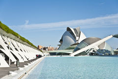 Staden av konster och vetenskap i Valencia. Fotografering för Bildbyråer