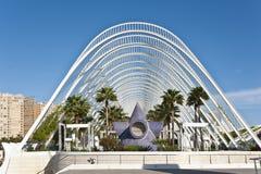 Staden av konster och vetenskap i Valencia. Royaltyfri Foto
