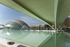 Staden av konster och vetenskap i Valencia. Arkivbilder