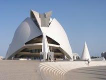 Staden av konster och vetenskaper i Valencia royaltyfria foton