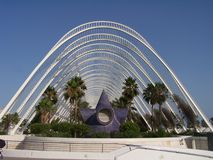 Staden av konster och vetenskaper i Valencia arkivbilder